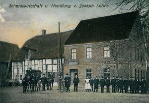 Historisches Foto Landgasthaus Lohre bzw. Schankwirtschaft Joseph Lohre ca. 1946